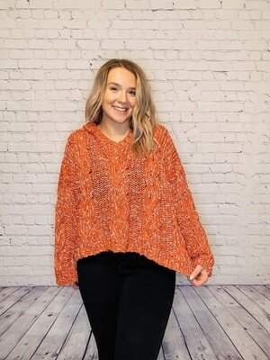 Coral Chunky Knit Sweater