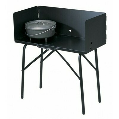 Kochstelle mit Windschutz