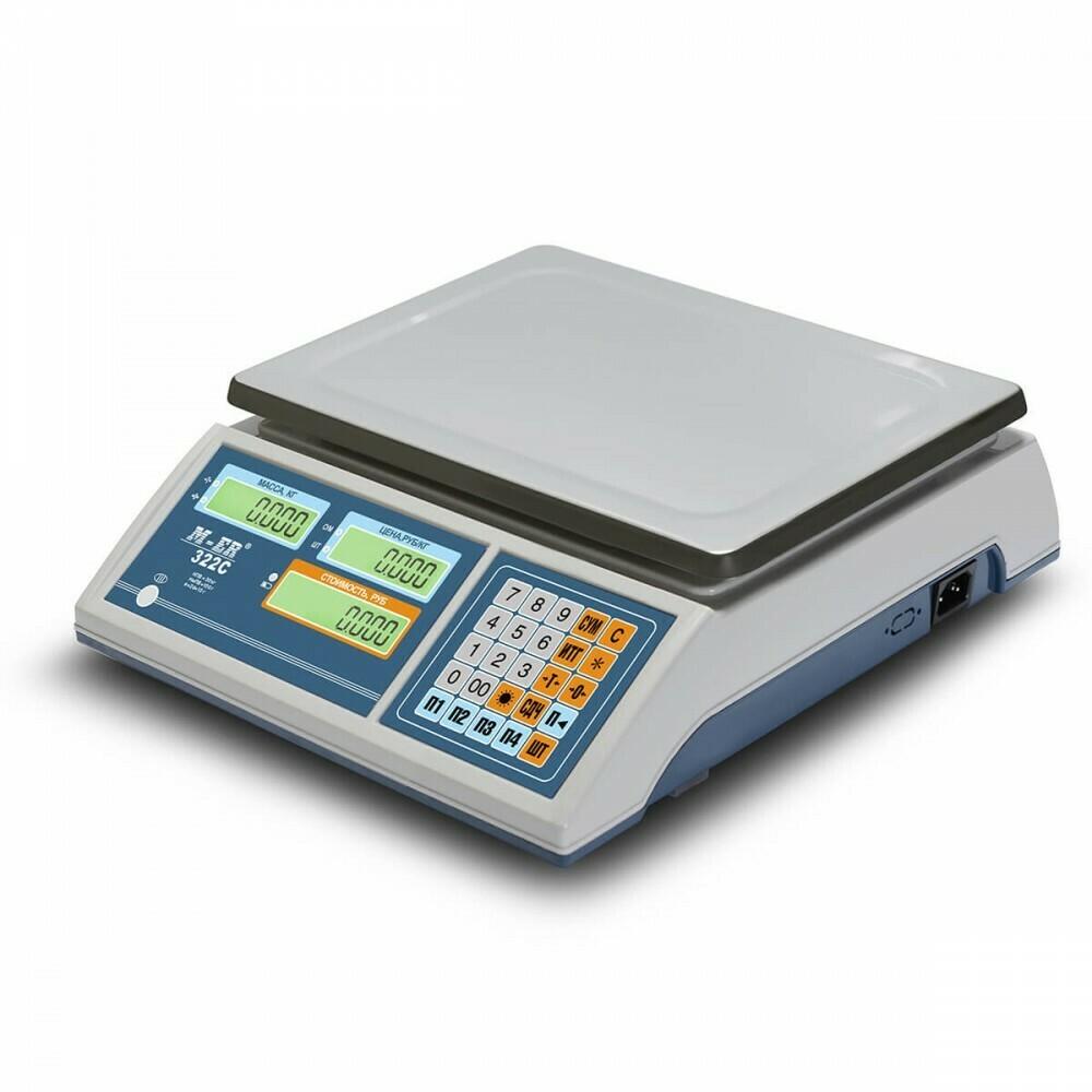 Торговые настольные весы M-ER 322 AC Ibby LСD