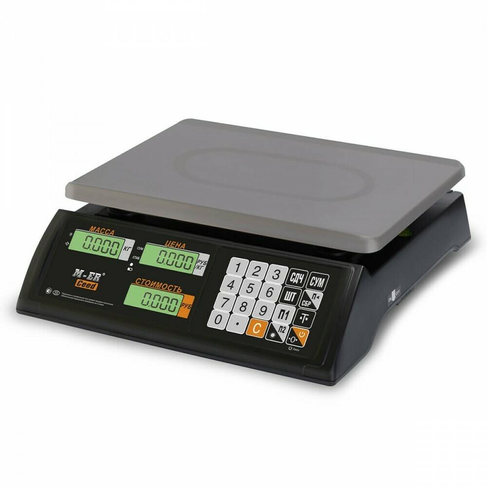 """Торговые настольные весы M-ER 327 AC """"Ceed"""" LCD Черные"""