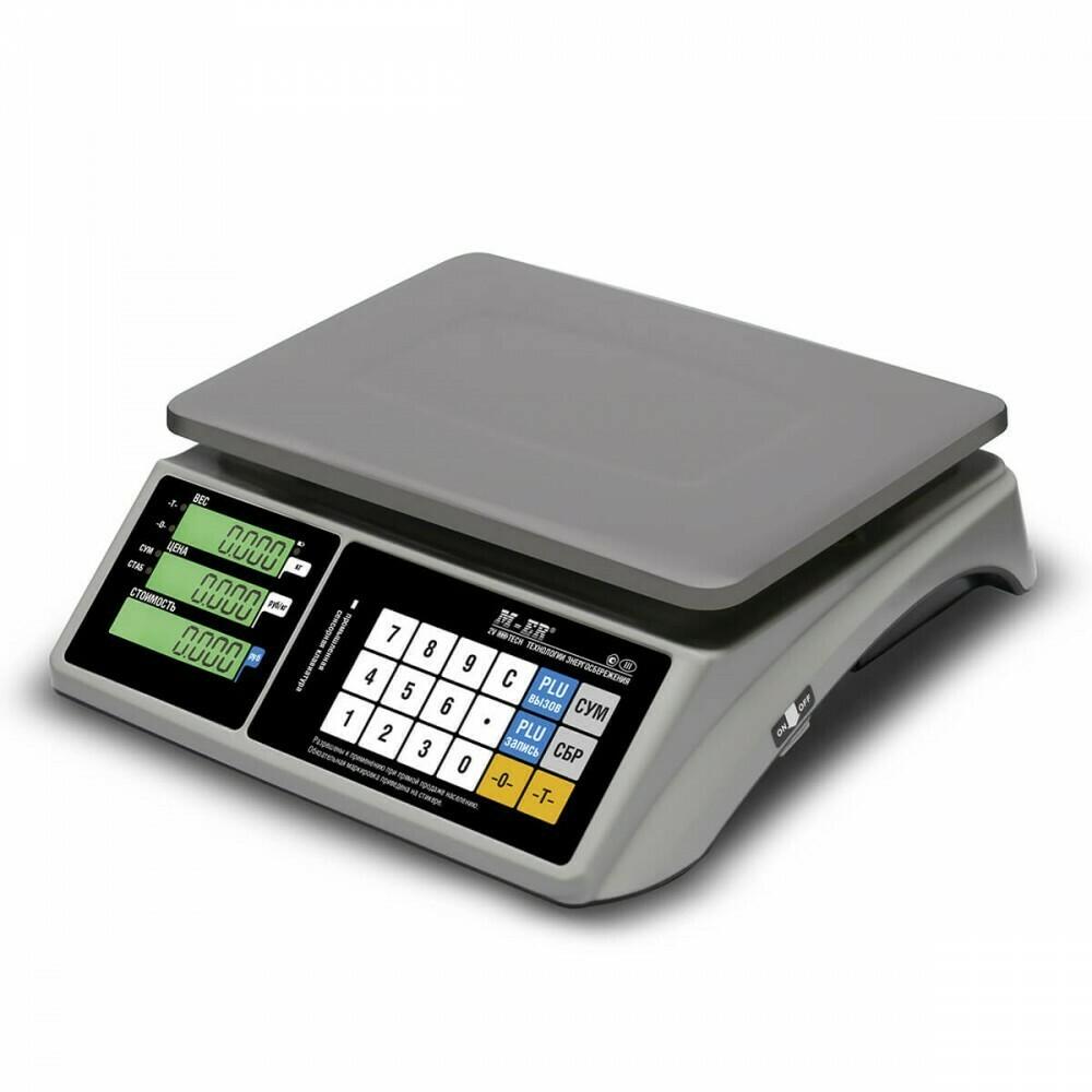 """Торговые настольные весы M-ER 328 AC """"TOUCH-M"""" LCD RS232"""