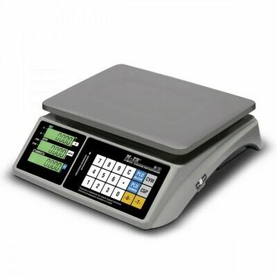 Торговые настольные весы M-ER 328 AC TOUCH-M LCD RS232 и USB