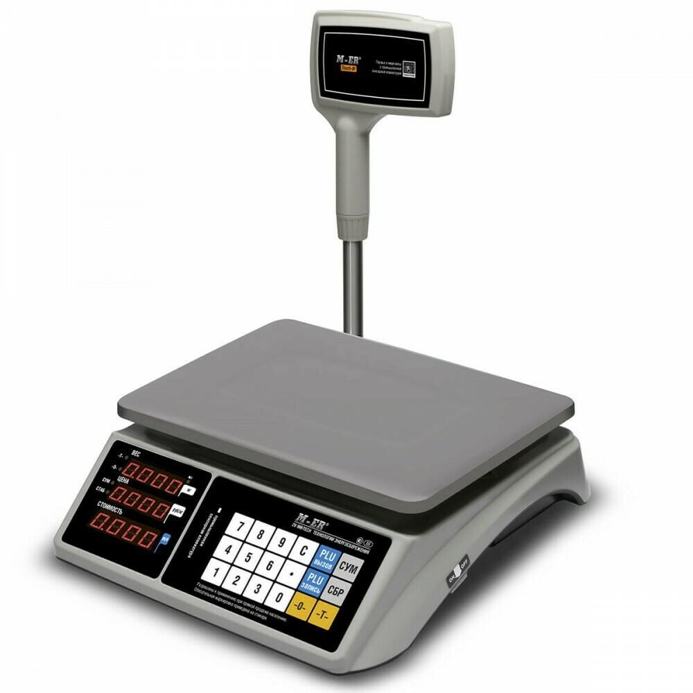 """Торговые настольные весы M-ER 328 ACPX """"TOUCH-M"""" LED RS232 и USB"""