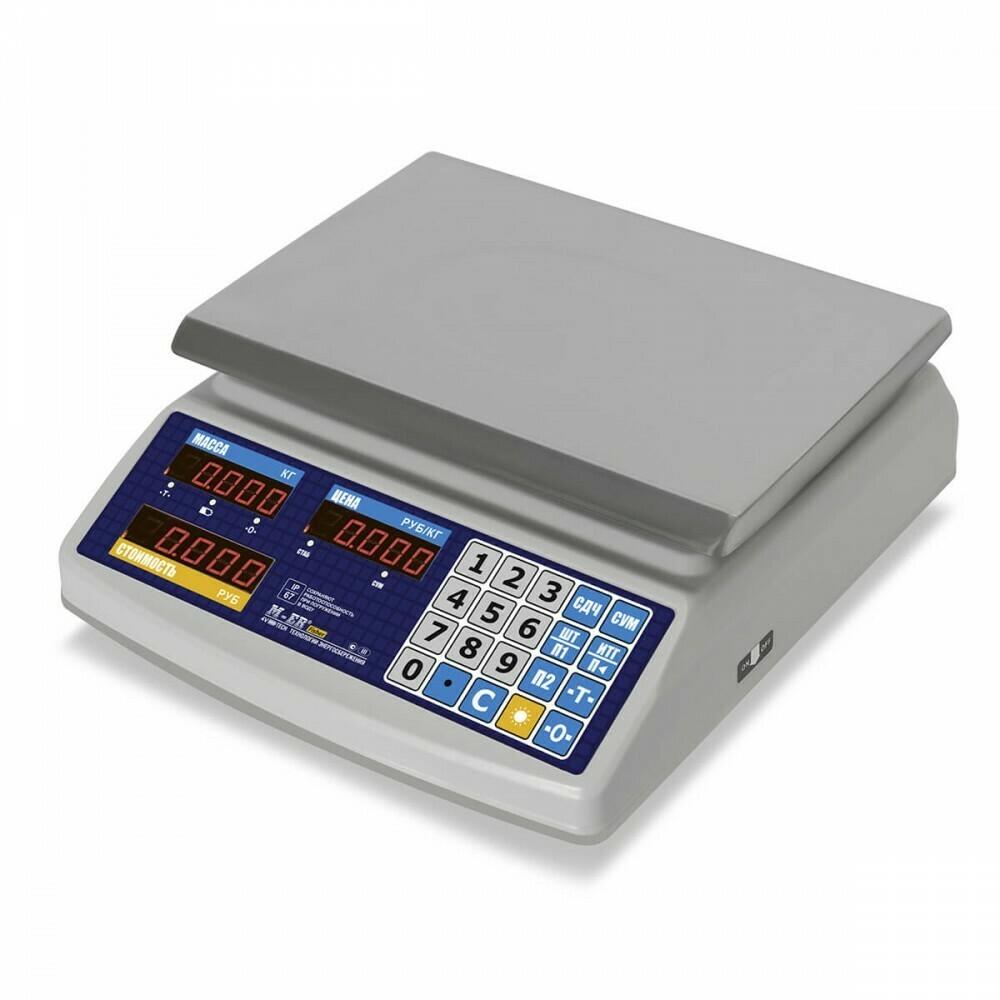 """Торговые настольные весы M-ER 329 AC-15.2 IP68 """"Fisher"""" LED"""