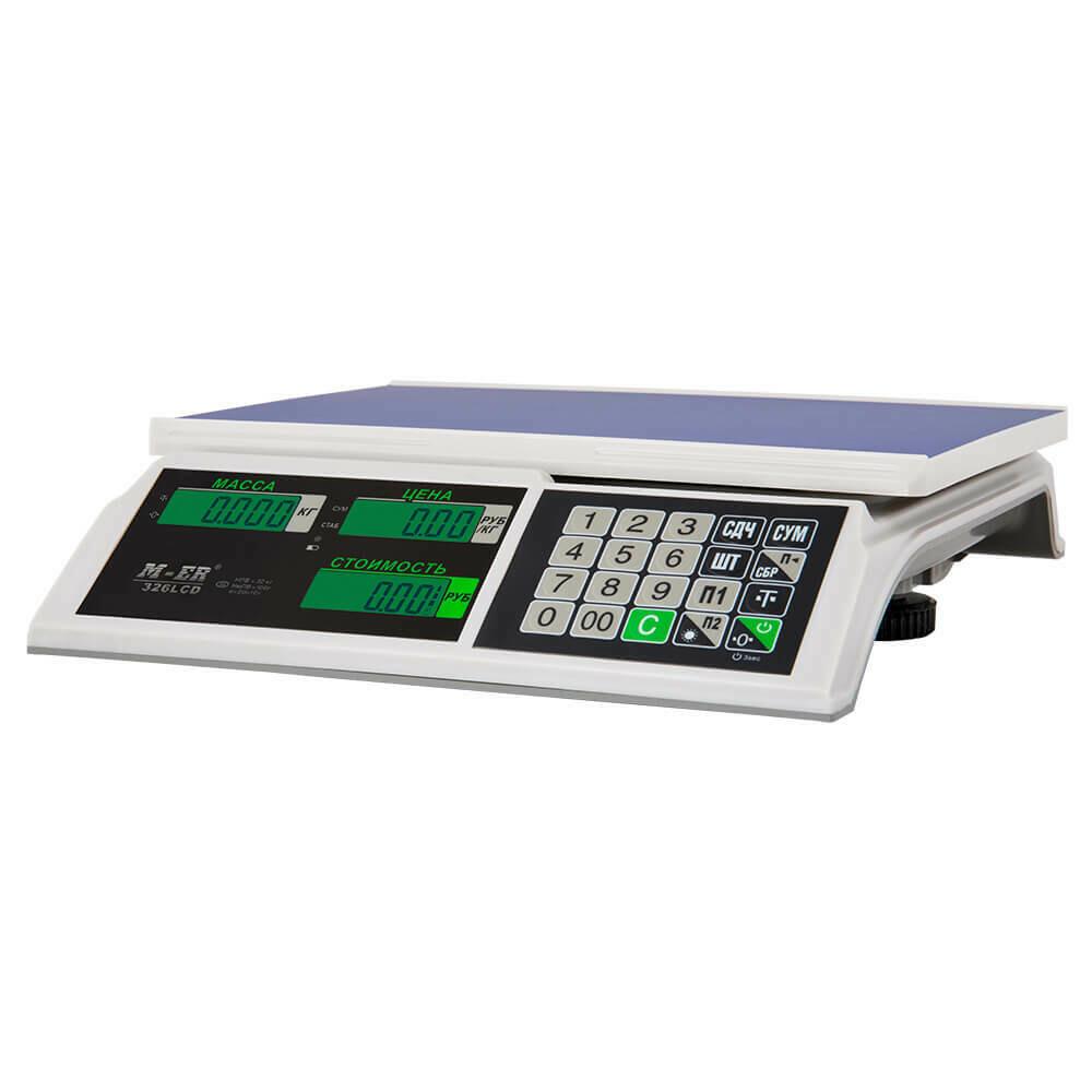 """Торговые настольные весы M-ER 326 AC """"Slim"""" LCD Белые"""