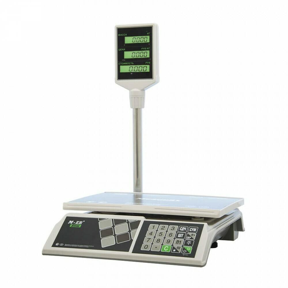 """Торговые настольные весы M-ER 326 ACP """"Slim"""" LCD Белые"""