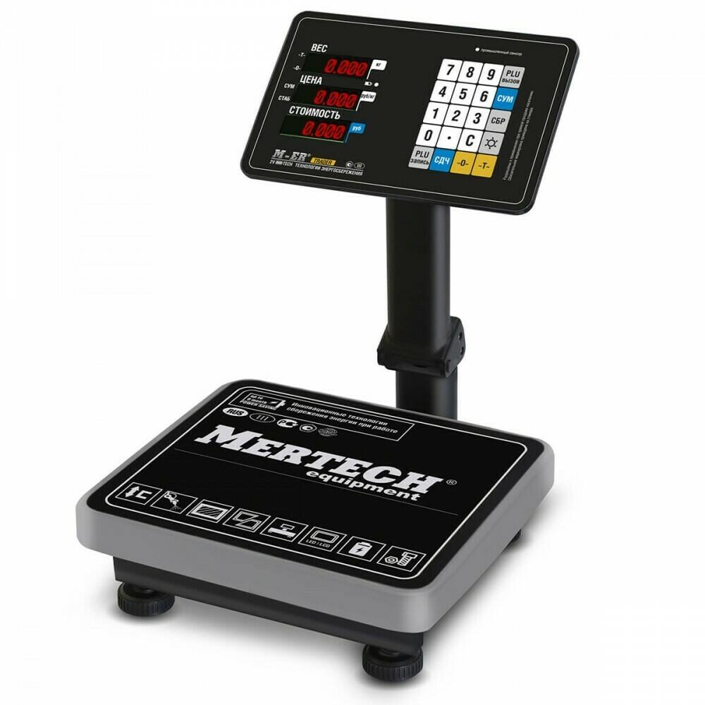 Торговые напольные весы M-ER 333 ACPU LED/LCD