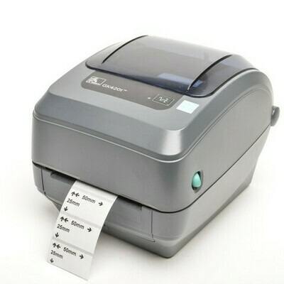 Принтер Zebra GK420t (терма-трансферный, 203dpi; 108мм; 127мм/сек; 4MB flash/8MB SDRAM; USB, RS) (GK42-102520-000)