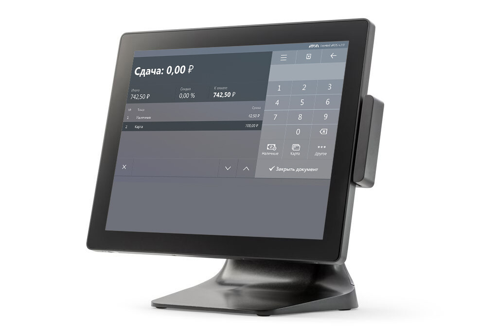 Сенсорный терминал АТОЛ Smart Plus [E915, 15 , P-CAP, Intel Celeron J1900 2.0/2.4 GHz, SSD, 4 GB DDR3L], MSR, Windows 10 IoT