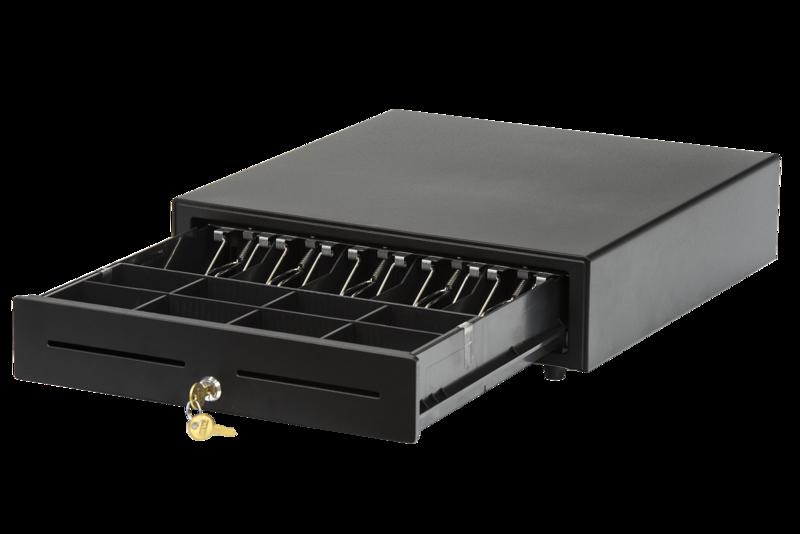 Денежный ящик АТОЛ CD-410-B черный, 410*415*100, 24V (Парад скидок)