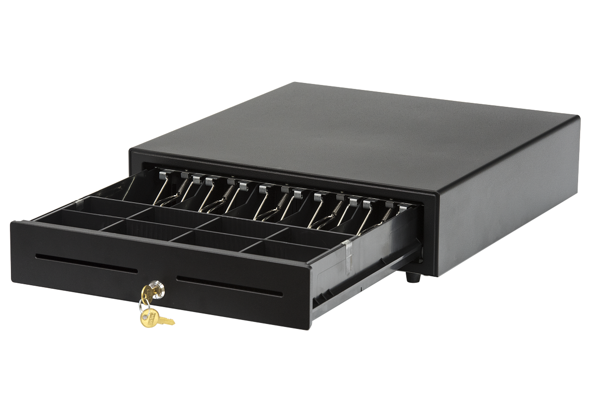 Денежный ящик АТОЛ CD-410-B черный, 410*415*100, 24V, для Штрих-ФР (Парад скидок)