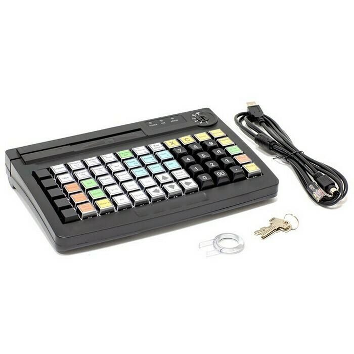 Программируемая клавиатура АТОЛ KB-60-KU (rev.2) черная c ридером магнитных карт на 1-3 дорожки