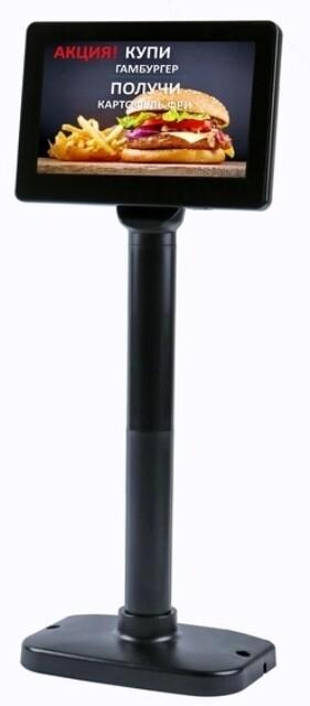 Дисплей покупателя АТОЛ PD-7000, USB, LCD 800*480, черный