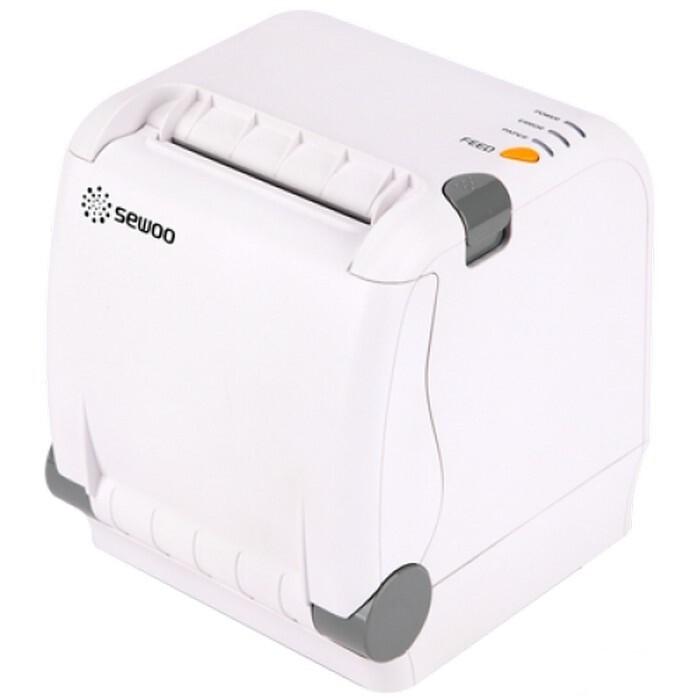 Чековый принтер 80 мм, Sewoo SLK-TS400 US_W (220мм/сек., USB, Serial) белый