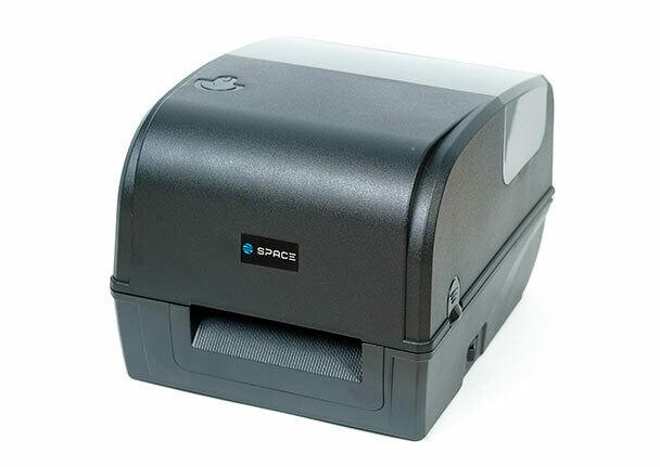 Принтер этикеток SPACE X-42TT (термотрансферный, 203 dpi, USB, Ethernet, с отделителем, черный)