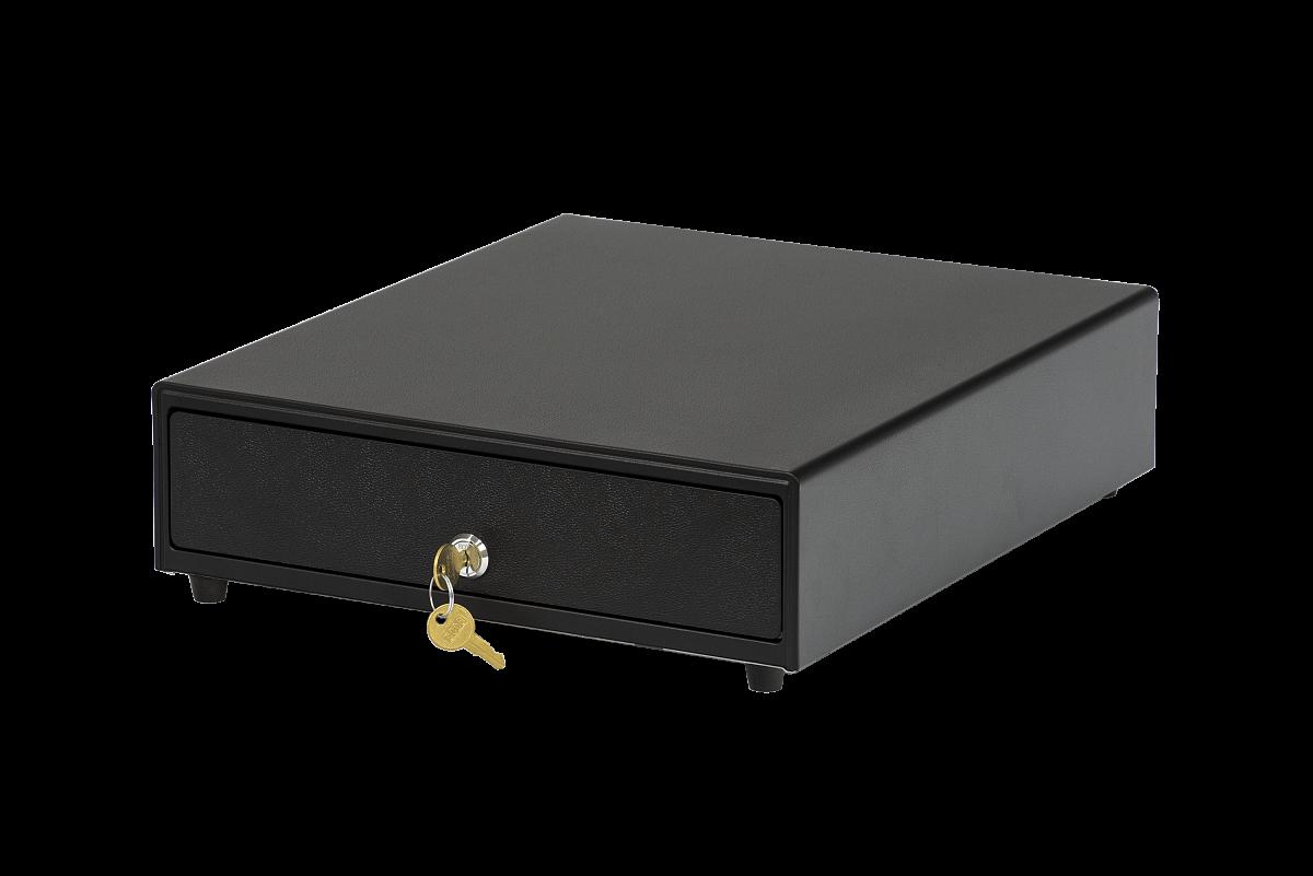 Денежный ящик CD-330, 24v, электромеханический, черный, 330x348x90mm