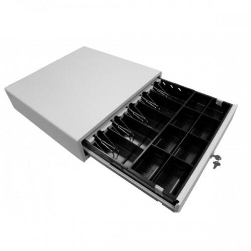 Денежный Ящик,410A ( 410х415х114мм) 5 банкнот/8 монет, БЕЛЫЙ, Epson/Штрих