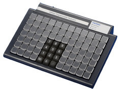 Программируемая клавиатура KB247, , 84 клавиш, счит. магн карт, USB