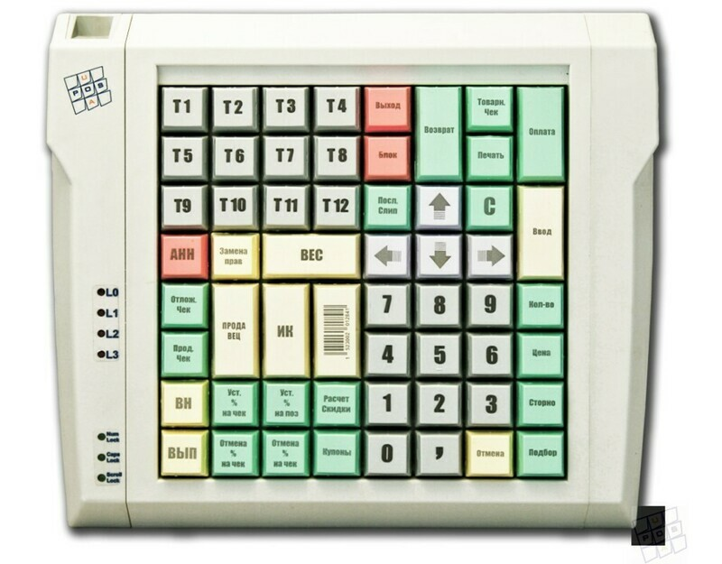 Программируемая клавиатура LPOS-064-Mxx(USB),64 клавиши,бежевая