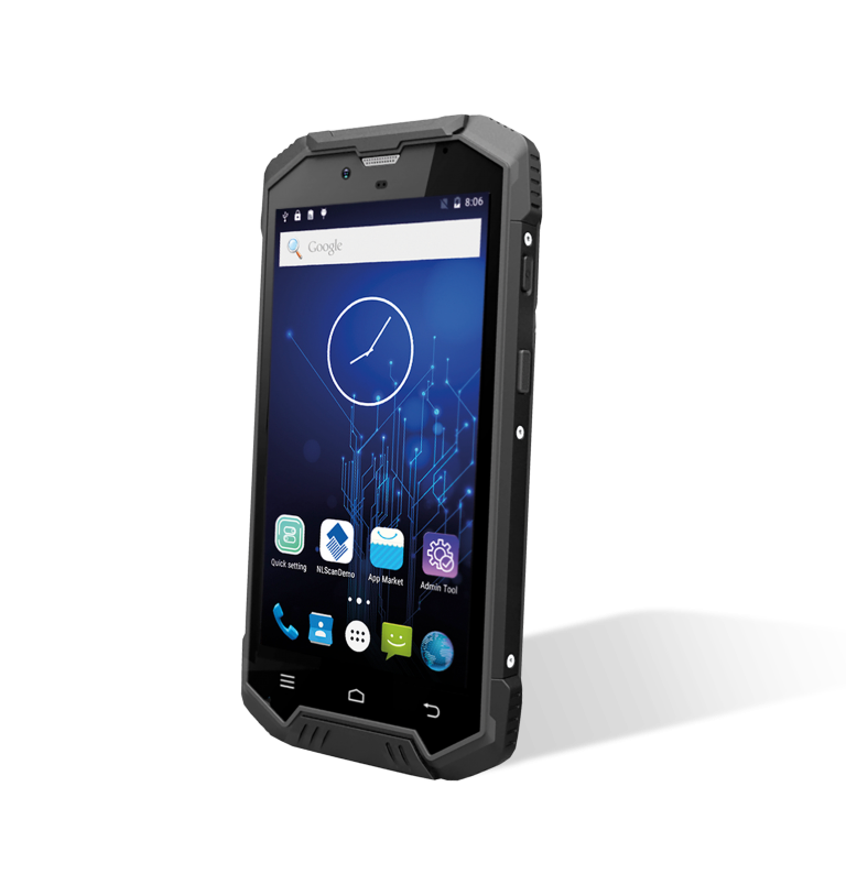 Терминал сбора данных Newland N7000R-II, Android PDA 5  touch screen (Black) with 2D CMOS imager & BT, Wi-Fi (dual band), 4G, GPS, Camera (OS Android 7) Incl USB cable, battery and charging cradle wit