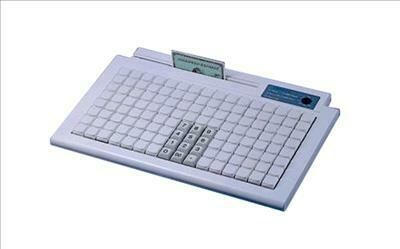 Программируемая клавиатура KB980A,  128 клавиш, без считывателя, интерфейс PS/2, белый