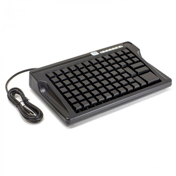 Программируемая клавиатура LPOS-084-M12(USB),  84 клавиши с ридером магнитных карт на 2 дор., чёр.