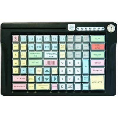 Программируемая клавиатура LPOS-084-M12(USB), 84 клавиши с ридером на 2 дор., с ключом, чер.