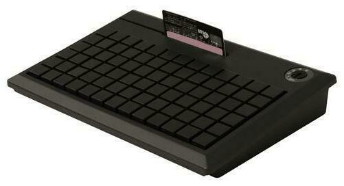 Программируемая клавиатура POS-клавиатура NCR 5932-7XXX чёрная PS/2 на 78 клавиш с ридером (3 дорожки)