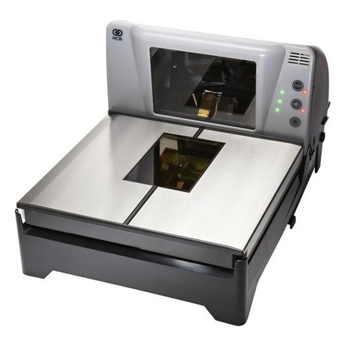 Биоптические сканер-весы штрих-кода NCR 7874-5000-9090 среднеразмерные (с блоком питания и интерфейсным кабелем, стекло EverScan)