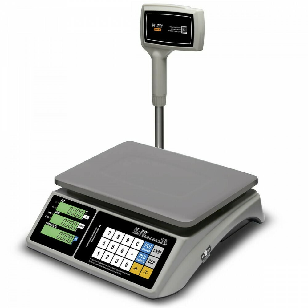 Весы Mertech M-ER 328 ACPX-15.2  TOUCH-M  LCD RS232 и USB