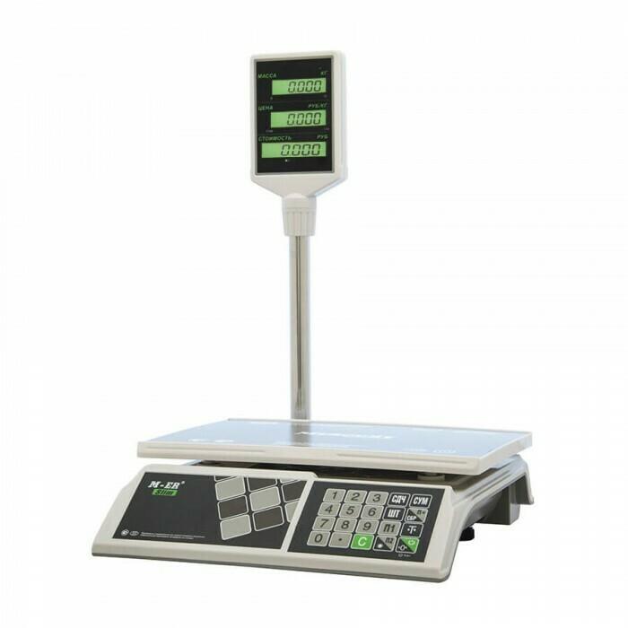 Весы Mertech M-ER 326 ACP-32.5  Slim  LCD Белые