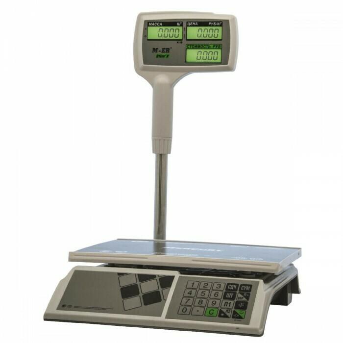 Весы Mertech M-ER 326 ACPX-15.2  Slim'X  LED Белые
