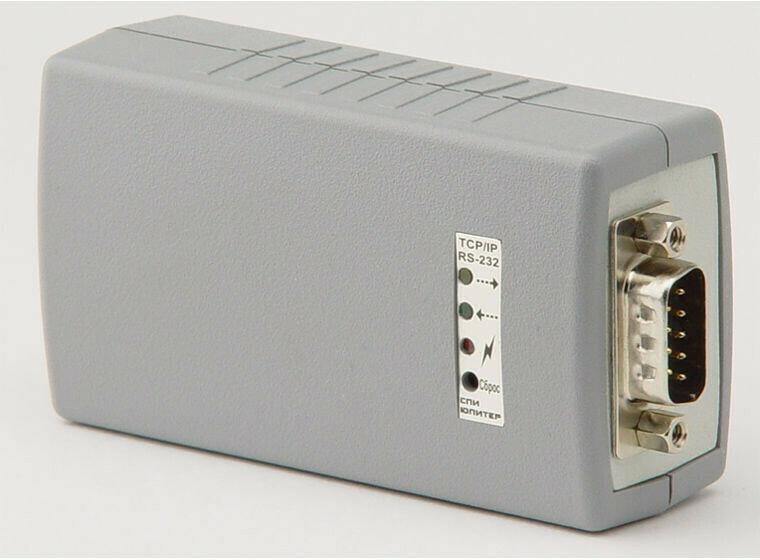 внешний конвертор  RS232 в TCP/IP (c адаптером и интерфейс кабелем)