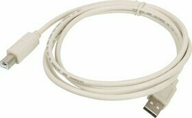 Кабель для подсоединения USB 2.0 /Am - Вm/, ПРОФЕССИОНАЛЬНЫЙ, 1.8 м, 2 фильтра, черный (87430)