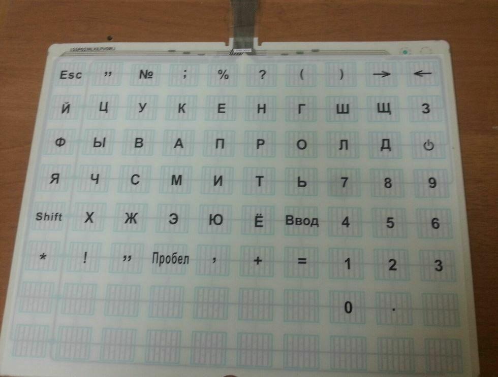 Панель клавиатуры с пуклевкой кнопок LS5 Mylar Pоle Type