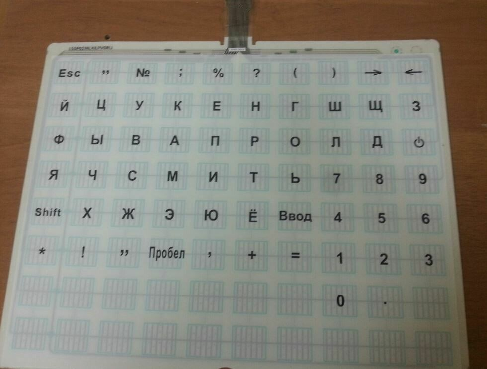 Панель клавиатуры с пуклевкой кнопок LS5 Mylar / Bench Typе