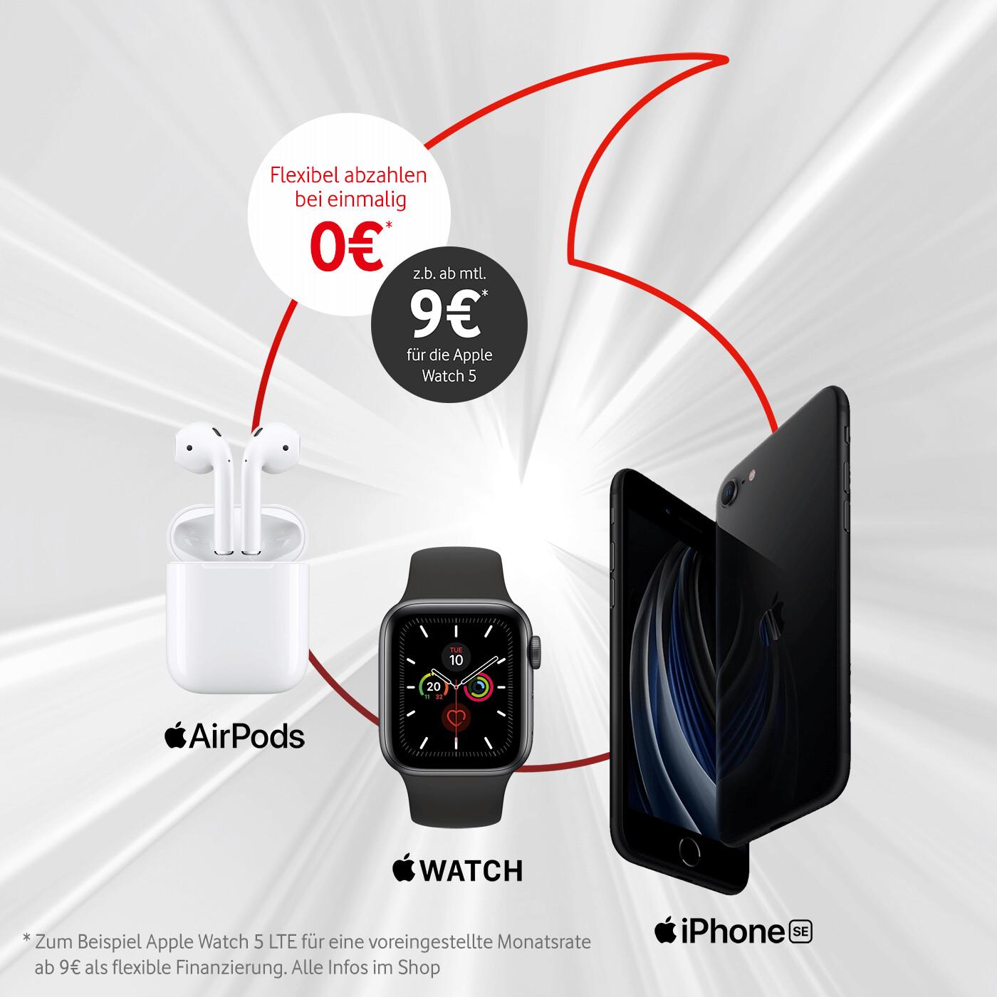 Apple-Wochen: Watch 5 + AirPods 2 + iPhone SE