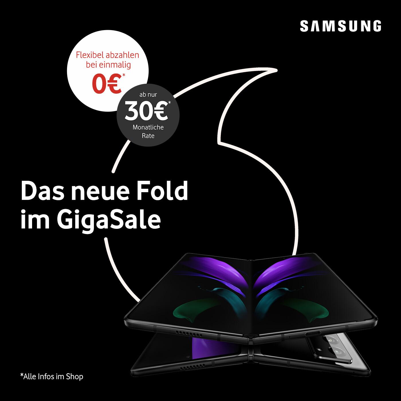 Samsung Preissturz: Galaxy Z Fold2 5G ab nur 30€ mtl. und 0€ Anzahlung