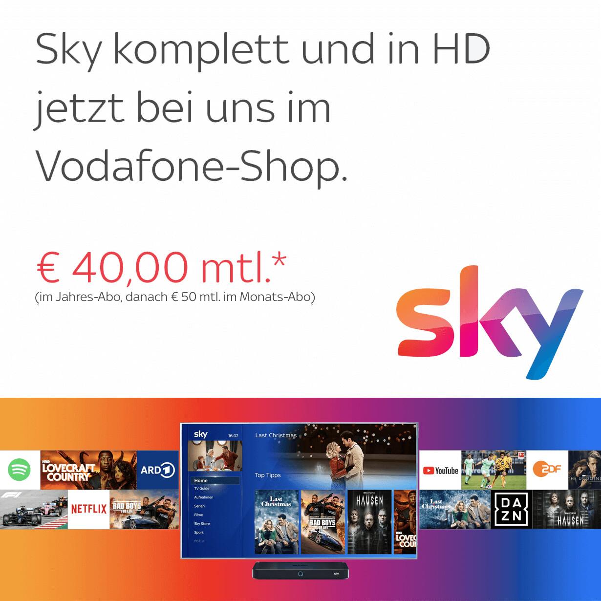 Das Beste von Sky: Filme, Serien und der beste Live-Sport in HD ab 12,50€* monatlich bei Abholung im Shop