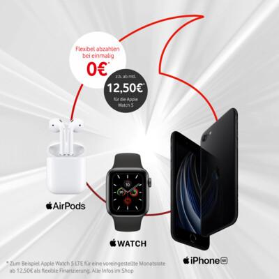 Apple-Wochen: Watch 5 + AirPods 2 + iPhone SE ab nur 12,50€ monatlich