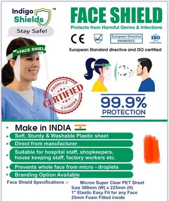 Face Shield ( Protection From Virus And Infection ) Pack Of 10