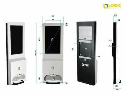 Sanit-caré ( A Digital Signage Kiosk with Dispenser for Instant Hygiene ) GST Invoicing ( tax Included )