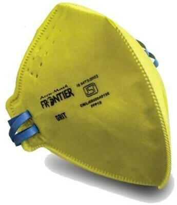 Frontier Grit Niosh N95 Anti Pollution ISI Certified Mask ( pack of 10 )