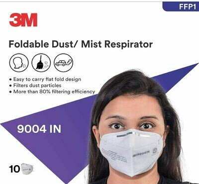 3M 9004 IN Particulate Respirator, White, Pack of 20