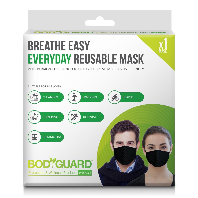 BodyGuard Breathe Easy Everyday Reusable Anti Pollution Mask - 1 Unit
