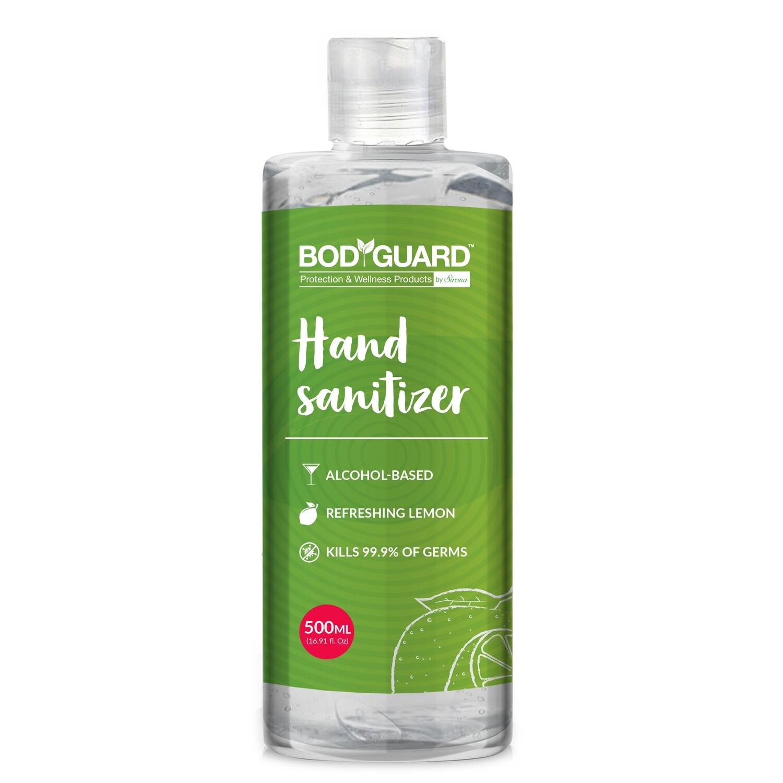 BodyGuard Alcohol Based Hand Sanitizer with Refreshing Lemon - 500 ml