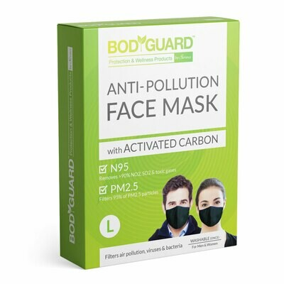 BodyGuard N95 + PM2.5 Anti Pollution Face Mask with Activated Carbon - Large