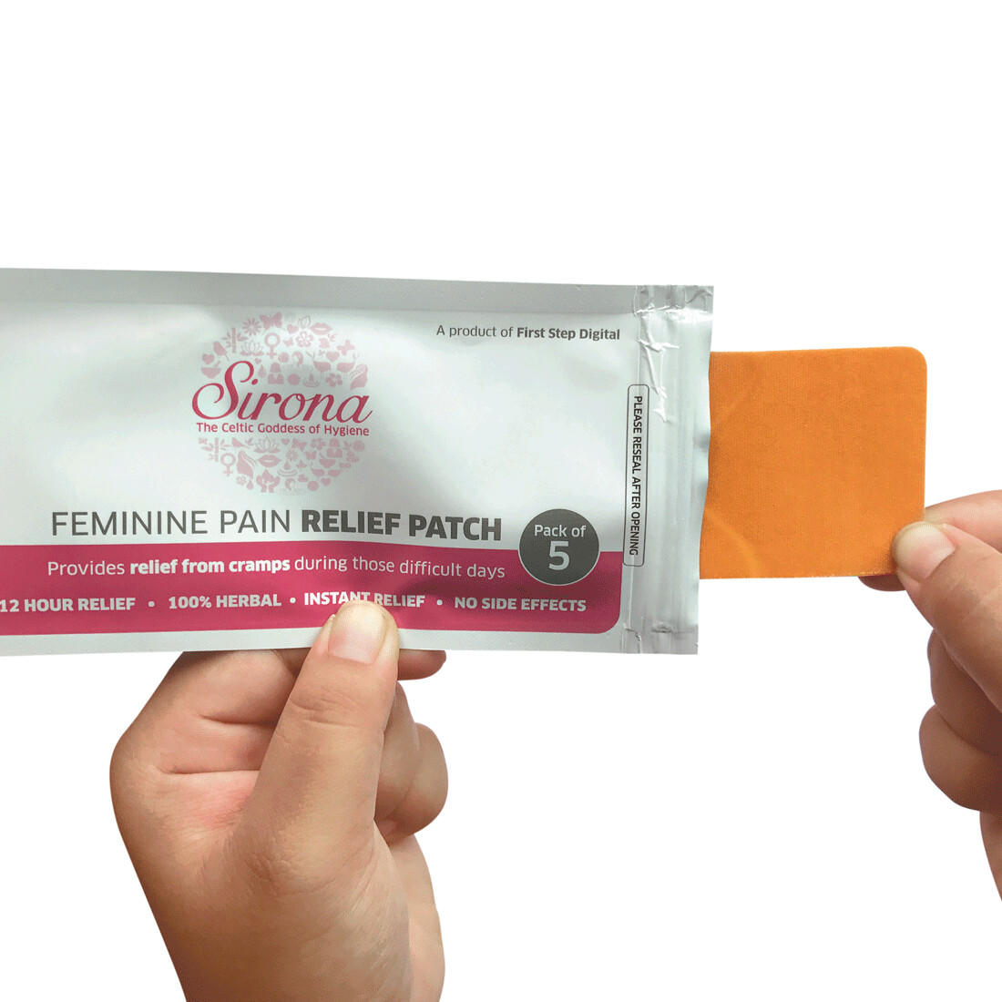 Sirona Feminine Pain Relief Patches - 5 Patches (1 Pack - 5 Patches Each)