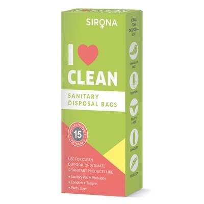 Sanitary and Diapers Disposal Bag by Sirona 15 Bags