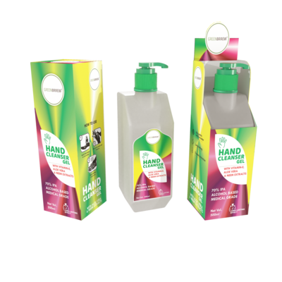 Hand Cleanser Gel with VITAMIN-E, Aloe Vera & Neem Extracts